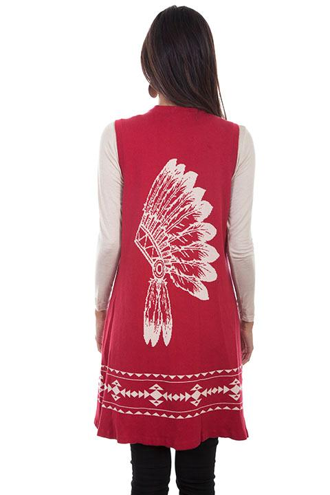 Scully Ladies' Honey Creek Collection Vest: Native American Chief Sweater