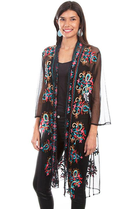 Scully Ladies' Honey Creek Accessory: Duster with Embroidery