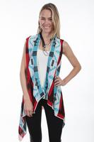 Scully Ladies' Honey Creek Collection Vest: Western Geometric Print SALE