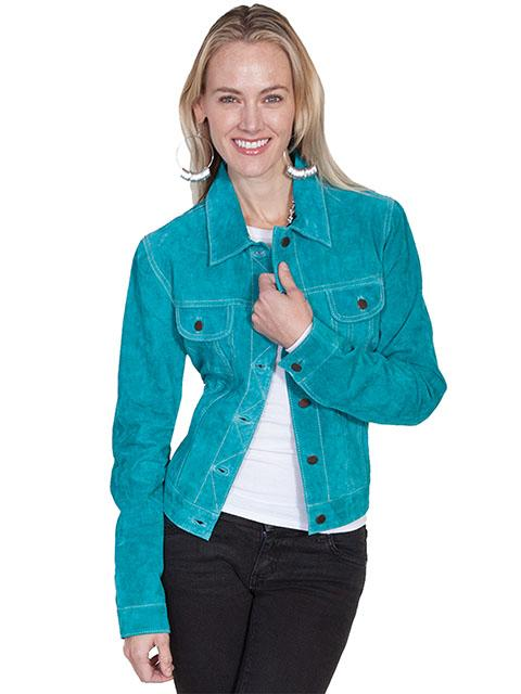 A Scully Ladies Leather Suede Jacket Western Jean Jacket