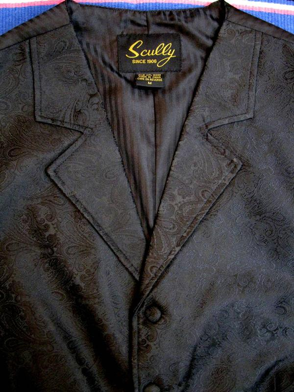 Scully Men S Old West Vest Rangewear Paisley Black Outwest