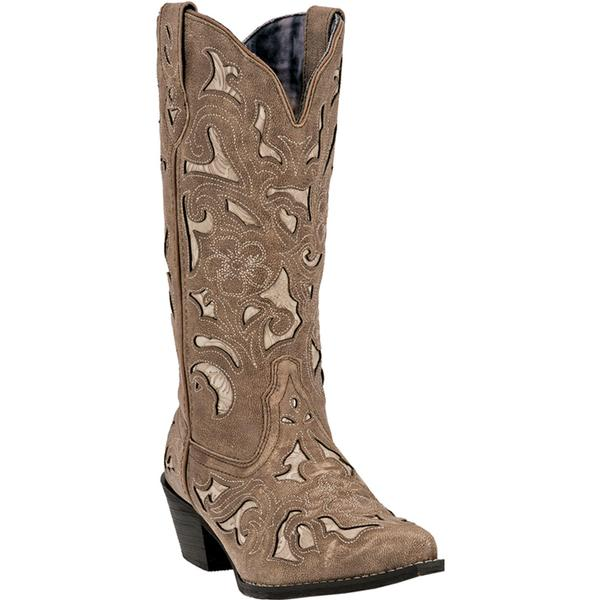 Ladies' Dan Post Boots Western Laredo Fashion: A Sharona Tan Snip Toe M 6-10,11