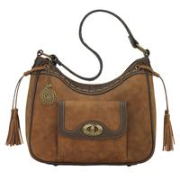 Bandana Handbag Guns & Roses Collection: Concealed Carry Shoulder Zip Top Golden Tan
