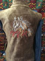 Ladies' Venario Fleece Vest: Sienna Horse Embroidery
