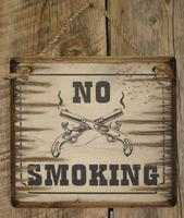Wall Sign Business: No Smoking