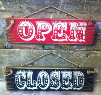 Wall Sign Business: Open Closed Large Set