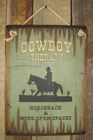 Wall Sign Advice: Cowboy Therapy