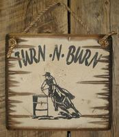 Wall Sign Barn: Horses Turn-N-Burn