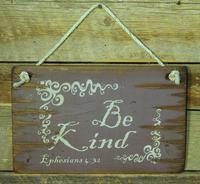 Wall Sign Faith: BE KIND