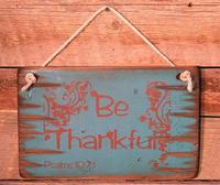 Wall Sign Faith: BE THANKFUL