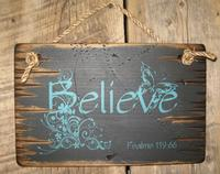 Wall Sign Faith: BELIEVE