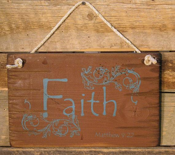 Wall Sign Faith: FAITH