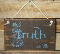 Wall Sign Faith: TRUTH
