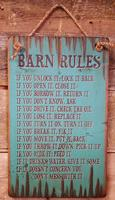 Wall Sign Barn: Barn Rules