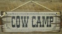 Wall Sign Barn: Cow Camp