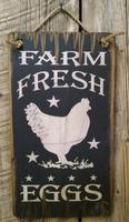 Wall Sign Barn: Farm Fresh Eggs