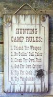 Wall Sign Hunting: Hunting Camp Rules