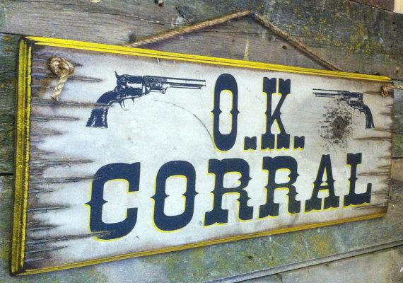 Wall Sign Movie Tombstone O K Corral