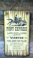 Wall Sign Vintage: Pony Express