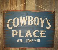 Wall Sign Home: Cowboys Place Large