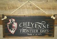 Wall Sign Rodeo: Cheyenne Frontier Days Black