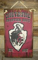 Wall Sign Rodeo: Cheyenne Frontier Days Burgundy Small