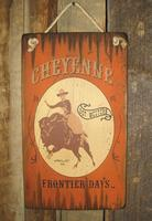 Wall Sign Rodeo: Cheyenne Buffalo Frontier Days