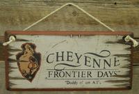 Wall Sign Rodeo: Cheyenne Frontier Days White