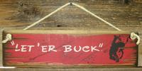 Wall Sign Rodeo: Pendleton Let'Er Buck Black Bronc