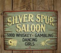 Wall Sign Saloon: Silver Spur Saloon