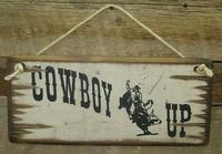 Wall Sign Advice: Cowboy Up
