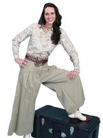 Scully Ladies' Old West Pant Skirt: Rangewear Full Pant Tan