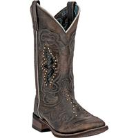 Ladies' Dan Post Boots Western Laredo: Z Stockman Spellbound Square Toe M 6-10, 11