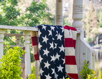 Denali® Home Collection Americana: Stars & Stripes Throw Blanket Reverses to Stars Backordered