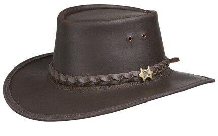Conner Handmade Hats BC Hats: Leather Stockman Oily Brown