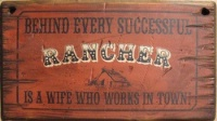 Cowboy Brand Furniture: Wall Sign-Advice-Behind Every Successful Rancher