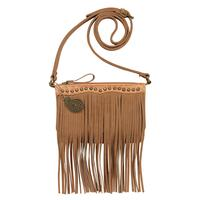 Bandana Handbag Sun Valley Collection: Crossbody Wallet Fringe Tan