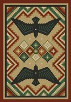 American Dakota Rug: National Park Collection Sunset Dance 4x5 Drop Ship
