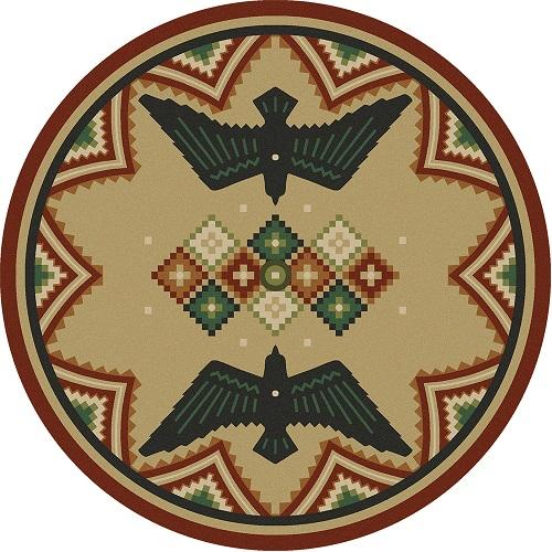 American Dakota Rug: National Park Collection Sunset Dance 8' Round Drop Ship