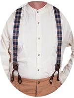 Scully Men's Accessory: Suspenders Rangewear Elastic Plaid One Size