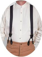 Scully Men's Accessory: Suspenders Rangewear Elastic Diamond Black One Size