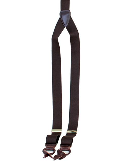 Scully Men's Accessory: Suspenders Rangewear Elastic Y-Backed Brown