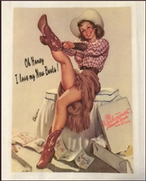 A Rockmount Ranch Wear Tea Towel: Cowgirl I Love My New Boots