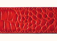 Terry Stack Belts & Buckles: Belt Strap Croc Red S-XL Special Order