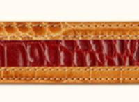 Terry Stack Belts & Buckles: Belt Strap Two Tone Gator Orange and Red S-XL Special Order