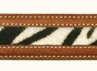 ZSold Terry Stack Belts & Buckles: Belt Strap Two Tone Hair on Hide Zebra Cognac SOLD