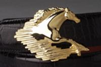 Terry Stack Belts & Buckles: Belt Buckle Equestrian Horse Gold Special Order