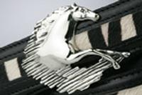 Terry Stack Belts & Buckles: Belt Buckle Equestrian Horse Nickle Special Order