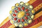 Terry Stack Belts & Buckles: Belt Buckle Stone Red and Yellow Jasper Special Order