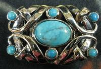 Terry Stack Belts & Buckles: Belt Buckle Stone Turquoise